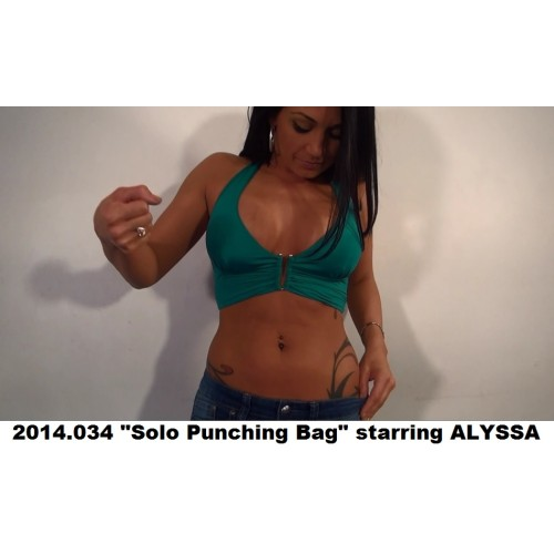 "2014.034 ""Solo Punching Bag"" starring ALYSSA"