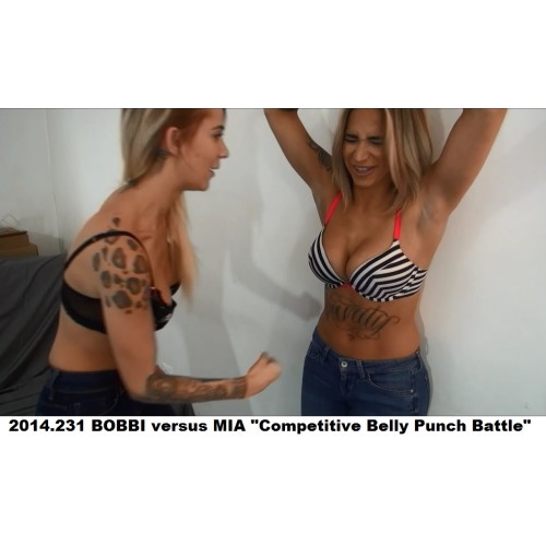 "2014.231 BOBBI versus MIA ""Competitive Belly Punch Battle"""
