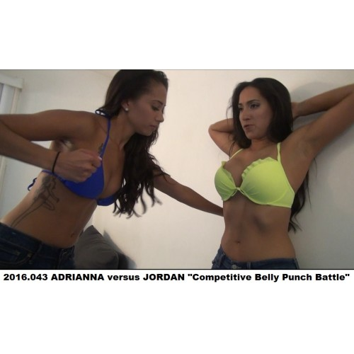 "2016.043 ADRIANNA versus JORDAN ""Competitive Belly Punch Battle"""